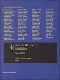 Annual Review of Medicine